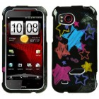 HTC Rezound Chalkboard Star Black Phone Protector Cover