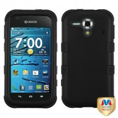 Kyocera Hydro Edge Rubberized Black/Black Hybrid Case