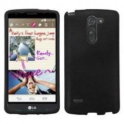 LG G Stylo Black Case - Rubberized