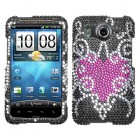 HTC Inspire 4G Trapped Heart Diamante Protector Cover