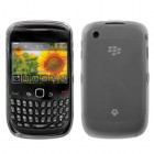 Blackberry 9300 Curve Semi Transparent White Candy Skin Cover (Rubberized)