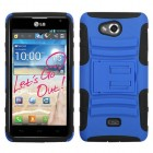 LG Spirit 4G Dark Blue/Black Advanced Armor Stand Protector Cover