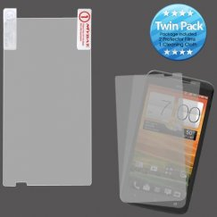 HTC EVO 4G LTE Screen Protector Twin Pack