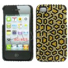 Apple iPhone 4/ 4S Full Diamond Crystal Couture Rhinestone Back Cover, Cheetah Pattern