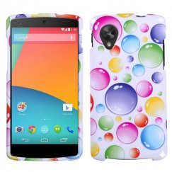 LG Nexus 5 Rainbow Bigger Bubbles Case