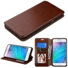 Samsung Galaxy J7 Brown Wallet with Tray