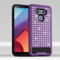 LG G6 Purple/Black Diamante FullStar Case