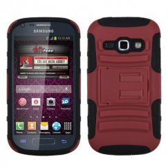 Samsung Galaxy Ring Red/Black Advanced Armor Stand Case