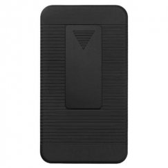 Samsung Galaxy S2 Rubberized Black Hybrid Holster