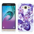 Samsung Galaxy J3 Purple Hibiscus Flower Romance /White Advanced Armor Protector Cover