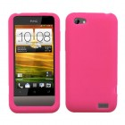 HTC One V Solid Skin Cover - Hot Pink