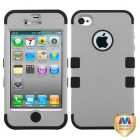 Apple iPhone 4/4s Rubberized Gray/Black Hybrid Case