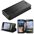 ZTE Sonata 2 / Zephyr Black Wallet with Tray