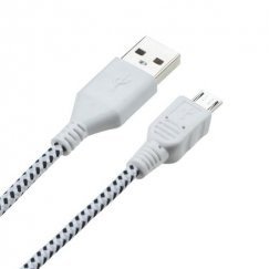 White Woven Pattern Data Cable