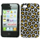 Apple iPhone 4/ 4S Full Diamond Crystal Couture Rhinestone Back Cover, Leopard Pattern