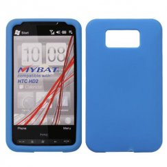 HTC HD2 Solid Skin Cover - Dark Blue