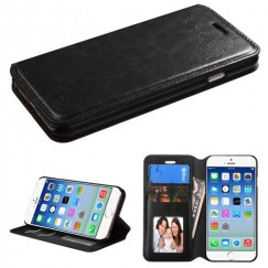Apple iPhone 6/6s Black Wallet with Tray