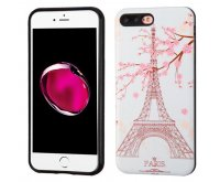 Apple iPhone 7 Plus Paris Eiffel Tower/Black Advanced Armor Protector Cover(3D Pattern)