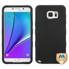 Samsung Galaxy Note 5 Rubberized Black/Black Hybrid Phone Protector Cover