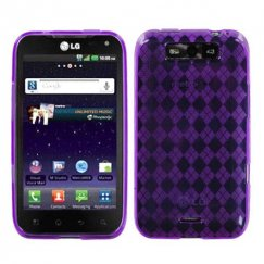 LG Viper Purple Argyle Pane Candy Skin Cover