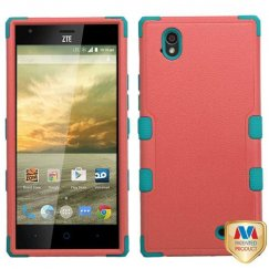 ZTE Warp Elite Natural Baby Red/Tropical Teal Hybrid Case