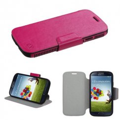 Samsung Galaxy S4 Hot Pink/Black Mixy Wallet