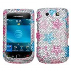Blackberry 9800 Torch Stylish Stars Diamante Protector Cover