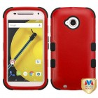 Motorola Moto E 2nd Gen Natural Red/Black Hybrid Phone Protector Cover