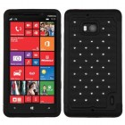 Nokia Lumia Icon Black/Black Luxurious Lattice Dazzling TotalDefense Case