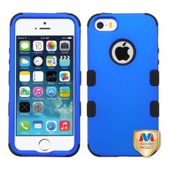 Apple iPhone 5/5s Titanium Dark Blue/Black Hybrid Case