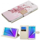 Samsung Galaxy Note 5 Spring Flowers Wallet(with Diamante Belt)