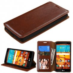 LG LS751 Volt 2 Brown Wallet with Tray