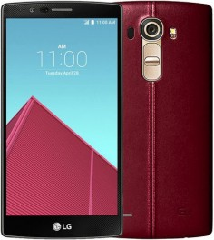 LG G4 32GB LS991 Android Smartphone for Sprint - Red Leather Cover