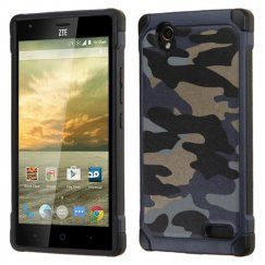 ZTE Warp Elite Camouflage Navy Blue Backing/Black Astronoot Case