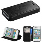 Apple iPhone 4/4s Black Wallet(with Tray) )