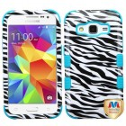 Samsung Galaxy Core Prime Zebra Skin/Tropical Teal Hybrid Case