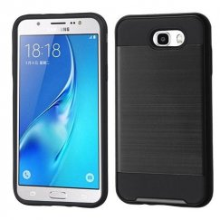 Samsung Galaxy J7 Black/Black Brushed Hybrid Case