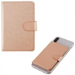Rose Gold Adhesive Card Pouch with Magnetic Snap