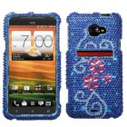 HTC EVO 4G LTE Juicy Flower Diamante Protector Cover