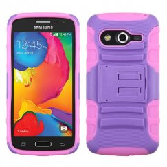 Samsung Galaxy Avant Purple/Electric Pink Advanced Armor Stand Case
