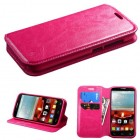 Alcatel One Touch Fierce 2 Hot Pink Wallet(with Tray)