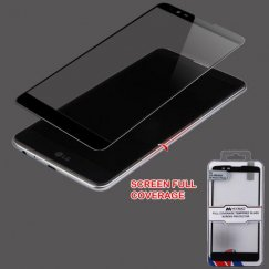 LG LG G Stylo 2 Plus Full Coverage Tempered Glass Screen Protector/Black