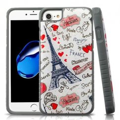 Eiffel Tower Love Gel/Iron Gray Glitter Fusion Protector Cover