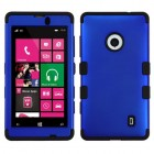 Nokia Lumia 521 Titanium Dark Blue/Black Hybrid Case