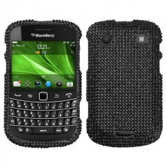 Blackberry Bold 9930 Black Diamante Case