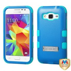 Samsung Galaxy Core Prime Natural Dark Blue/Tropical Teal Hybrid Case with Stand