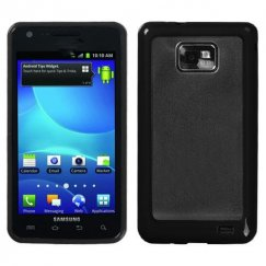 Samsung Galaxy S2 Transparent Clear/Solid Black Gummy Cover