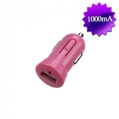 Pink Bullet-like USB Car Charger(1 Amp)