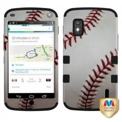 LG Nexus 4 Baseball-Sports Collection/Black Hybrid Case