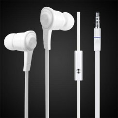 iPhone White Noodle Stereo Handsfree